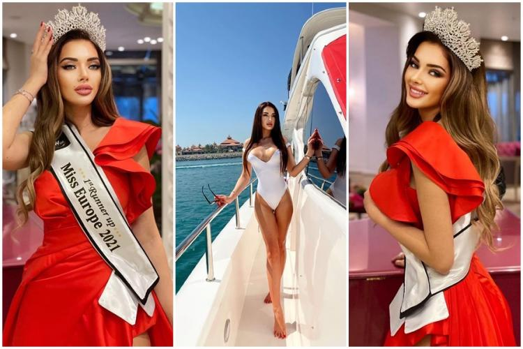 Ardeleanca Iolanda Anamaria Babău, locul doi la concursul Miss Europe - FOTO