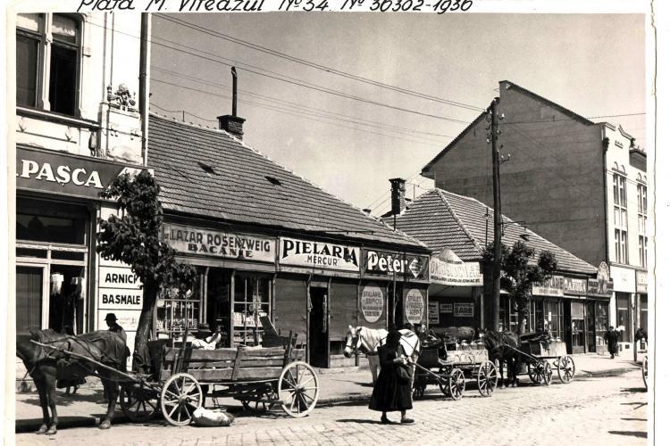 """""""Bijuterie"""" de fotografie din Clujul bunului gust - Piața Mihai Viteazu, 1936. Mai jos s-a construit recent oribilul """"Flip"""" - FOTO"""