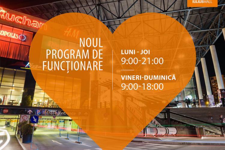 Iulius Mall Cluj funcționează după un nou program, cu ample măsuri de siguranță