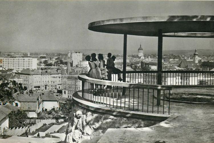 Panoramă superbă cu Clujul, din 1966, de pe Dealul Cetățuia - FOTO