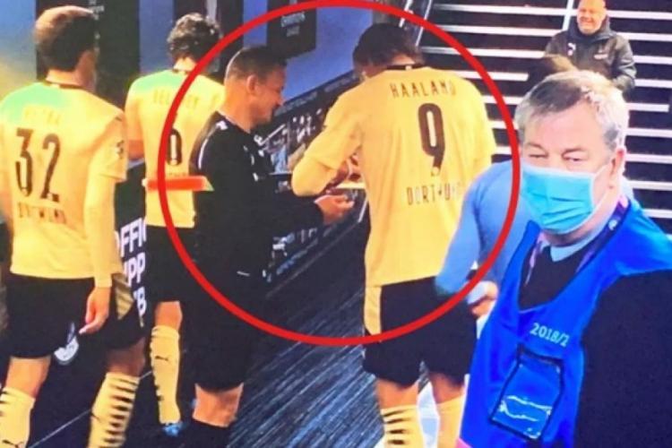 UEFA îl atacă arbitrul Șovre, care a cerut autografe vedetelor, după meciul Manchester City - Borussia Dortmund