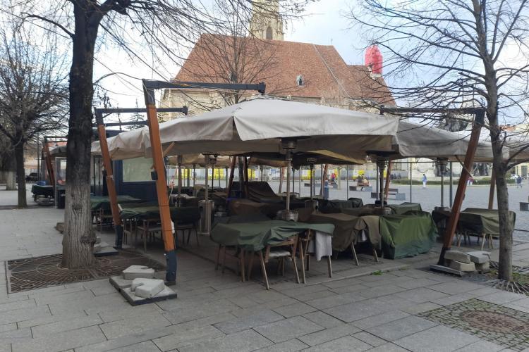 """Centrul Clujului, sinistru după """"lockdown-ul"""" de la 18.00: Să ne bucurăm că încă mai avem job -uri - FOTO"""