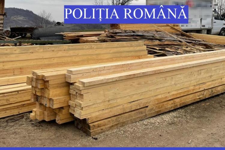 Garda Forestieră Cluj a împărțit amenzi de mii de lei pentru exploatarea lemnului - FOTO