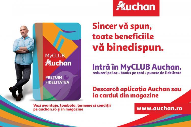 Surpriză pentru clujeni: Auchan România a lansat programul de fidelitate MyCLUB Auchan