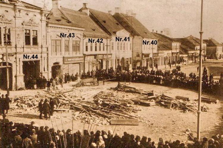Imagini de la o explozie de gaz din Turda, 1917. A distrus tipografia Füssy - FOTO