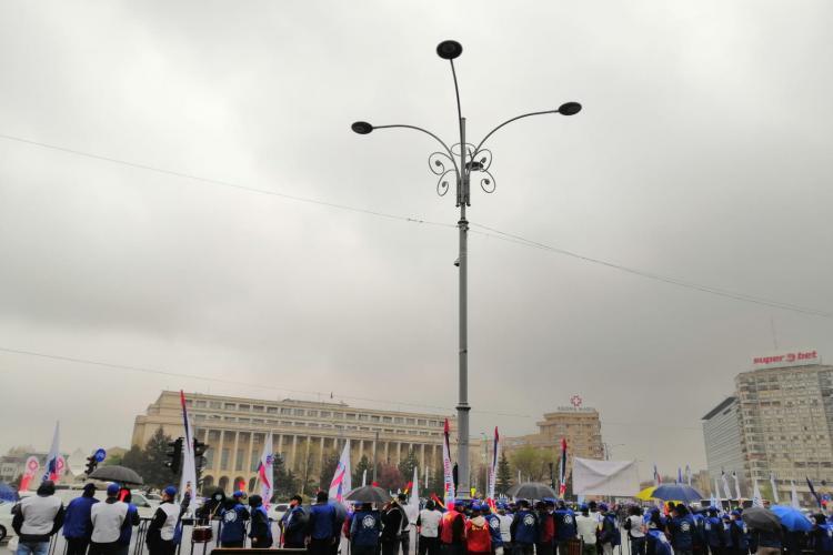 Sindicaliștii cer demisia guvernului Cîțu, după un protest la București: Trebuie să plece!
