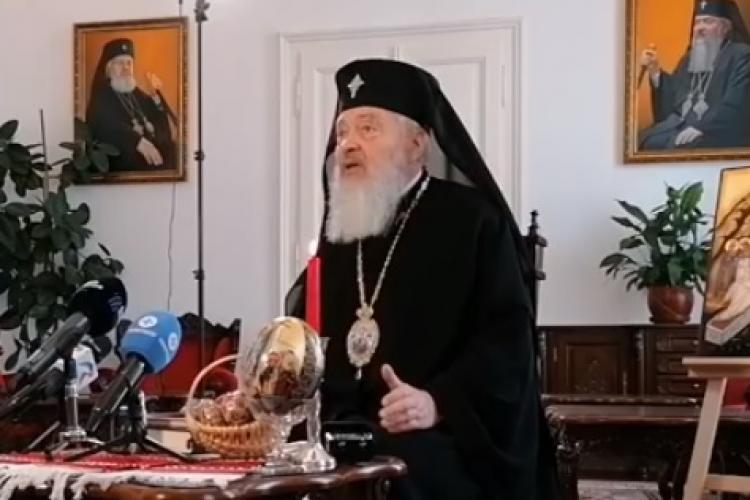 Nevaccinat, Mitropolitul Clujului, ÎPS Andrei, a fost întrebat dacă le recomandă credincioșilor vaccinul