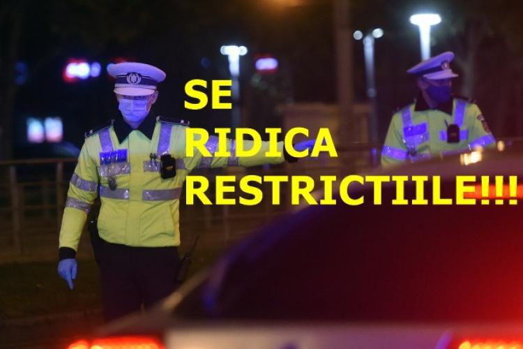 E oficial! De azi, 26 aprilie, se ridică restricțiile în Cluj-Napoca, Turda, Dej, Baciu, Florești și alte localități