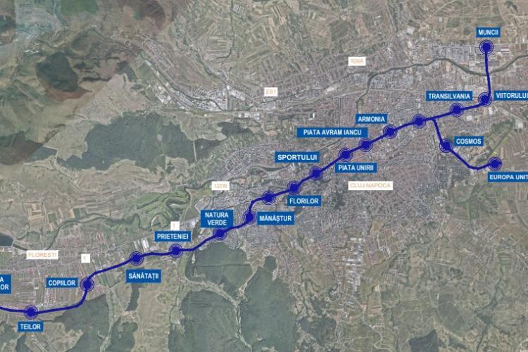 Cum se numesc stațiile viitorului Metrou din Cluj: Țara Moților e în Florești, iar Natura Verde, în Mănăștur. Unde e stația Cosmos - FOTO