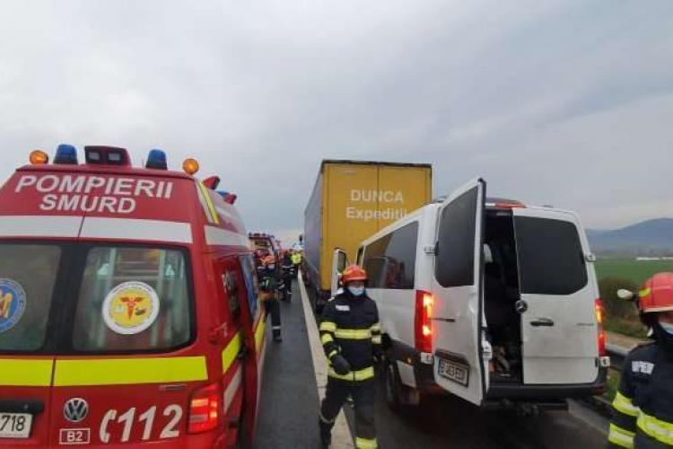Accident grav în Alba! Șapte persoane au fost transportate la trei spitale din județul Hunedoara - FOTO