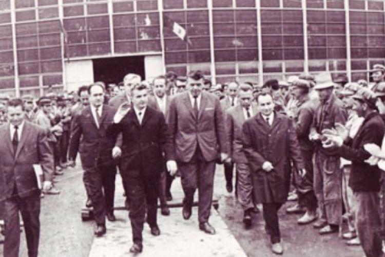 Ceaușescu cu Combinatul Industria Sârmei Câmpia Turzii, 1969 - FOTO