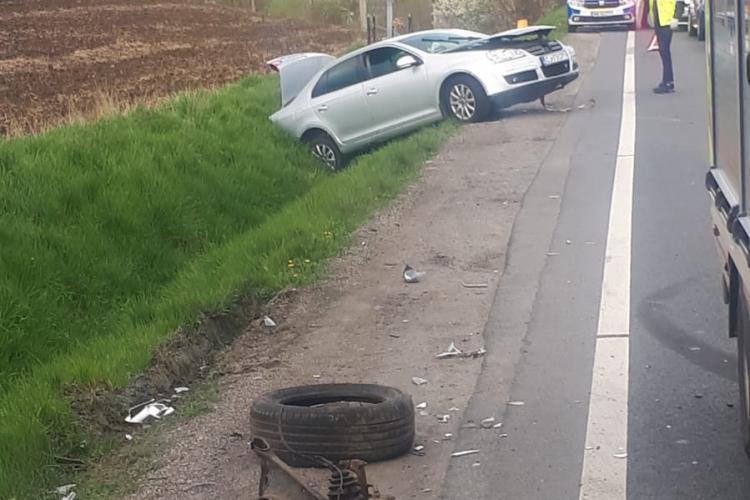 Accident grav în Suceag, pe drumul spre Zalău! Un tânăr de 19 ani a intrat pe contrasens - FOTO