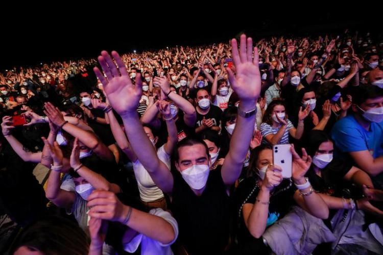 Rezultatele studiului de la Barcelona, după concertul test: Nimeni nu s-a infectat cu COVID-19