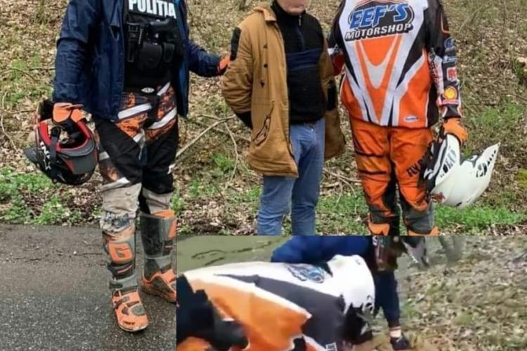 Criminalul din Alba, prins de doi polițiști CURAJOȘI, care l-au urmărit cu propriile motoare prin munți - FOTO