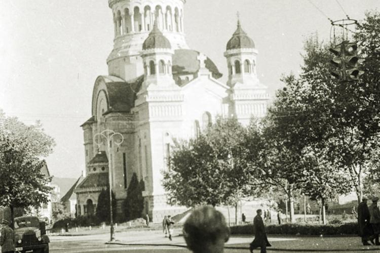 Clujul din 1956, văzut prin lentila unui cunoscut artist australian. Piața Avram Iancu era absolut superbă - FOTO