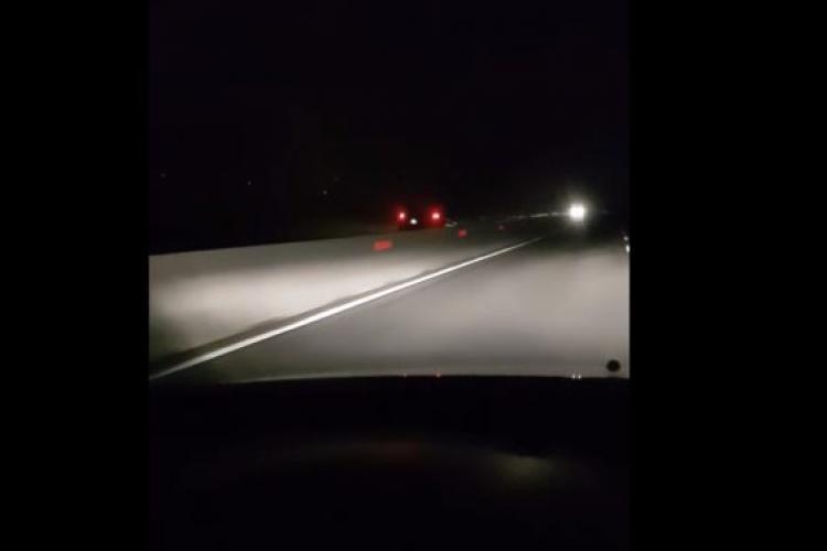 O mașină a circulat cu 130 km/oră pe contrasens pe DN1 - VIDEO