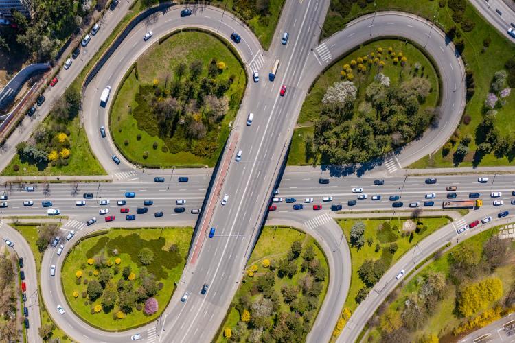 Trafic de vineri spre Florești. Calea Florești fotografiată din dronă - FOTO