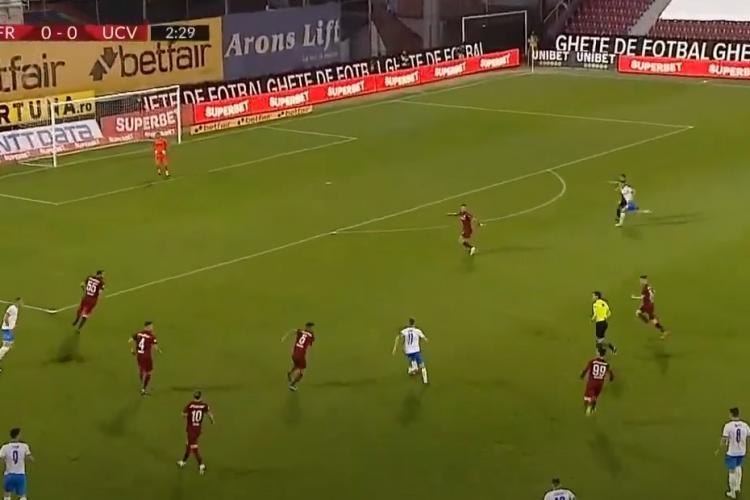 CFR Cluj a pierdut cu Universitatea Craiova, 1-2 și acuză arbitrajul. Clujul pierde titlul? - REZUMAT VIDEO