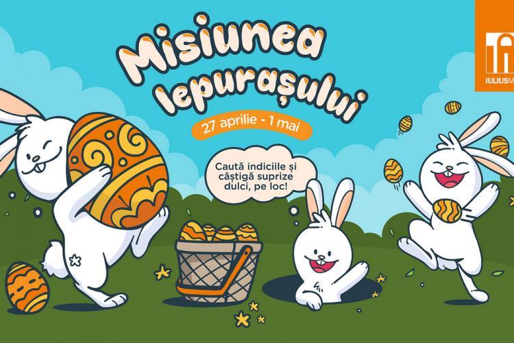 Iepurașul de Paște și prietenii lui au pregătit surprize pentru toți copiii, la Iulius Mall Cluj!