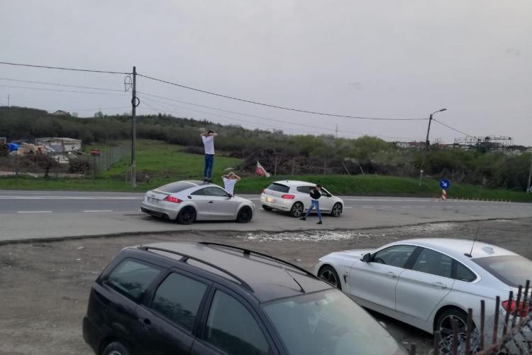 """Clujean: """"Au venit din Iași la Cluj. Fac selfie cu viitorul metrou!!!"""" - FOTO"""