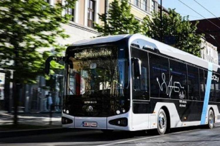 Primul autobuz electric fabricat în România. A fost produs la Baia Mare și ar putea circula în Cluj-Napoca