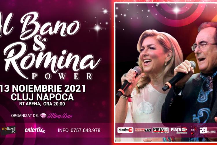 Cel mai iubit cuplu italian, Al Bano și Romina Power, vine pentru prima dată la Cluj pentru un concert de senzație
