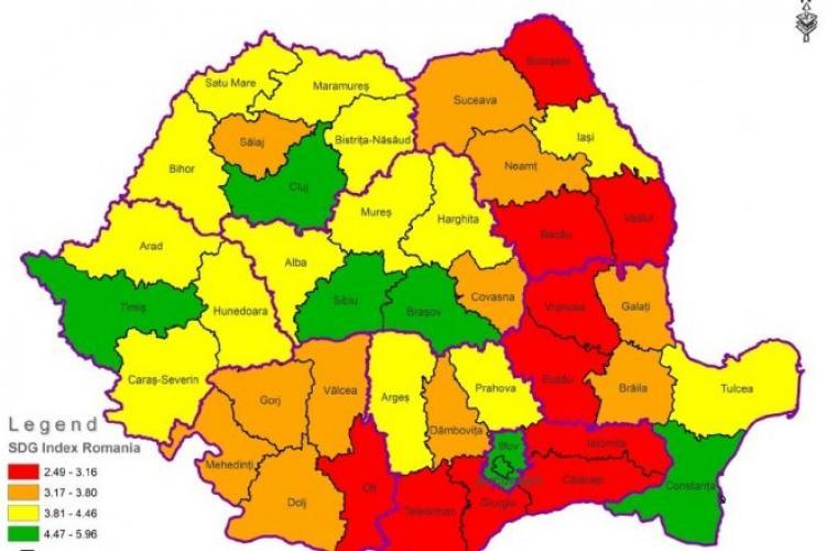 Clujul se află în topul județelor care iau notă de trecere la dezvoltare durabilă
