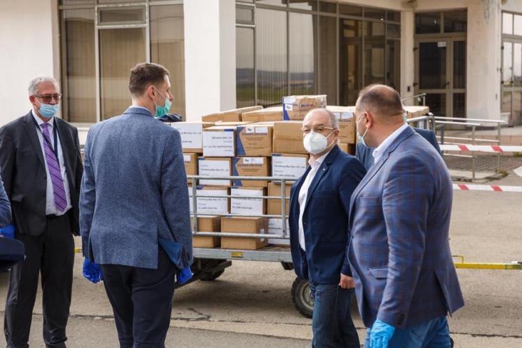 Infuzie puternică de materiale sanitare pentru spitalele clujene, în RĂZBOIUL cu pandemia COVID-19