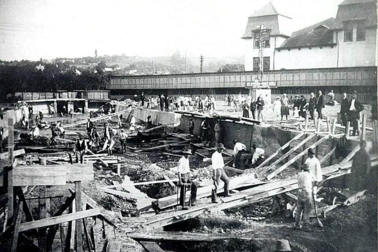 Cum s-a construit Ștrandul Municipal din Cluj-Napoca - FOTO