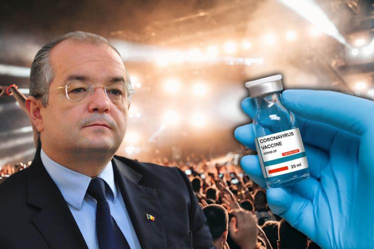 Boc: Concertul de la Cluj este destinat exclusiv celor vaccinați