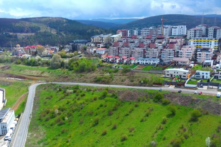 Strada Răzoare, zona BMW cu blocuri și Vivo Cluj - Filmare din dronă - VIDEO