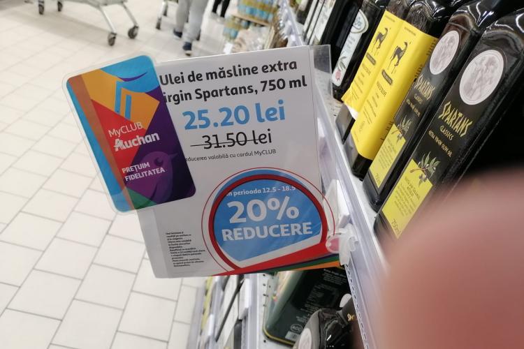 Clujenii sunt puși în încurcătură de sistemul de reduceri de la Auchan - FOTO