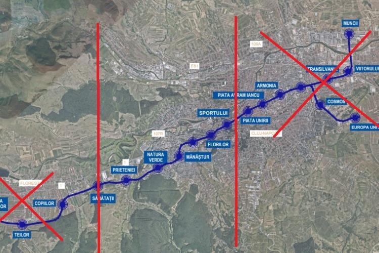 Metroul Clujului a intrat la apă! Boc spune că va fi făcut un metrou mai mic. Se face numai un troson