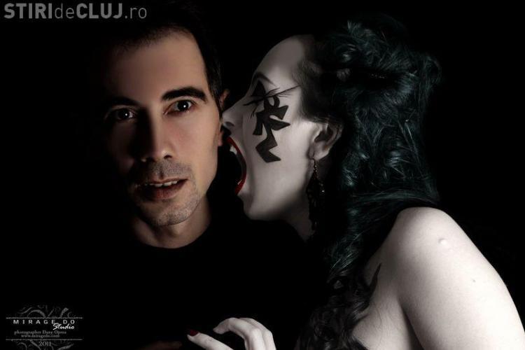 Raluca Olariu, una dintre cele mai sexy clujence, joaca rolul unei vampirite intr-un pictorial inedit
