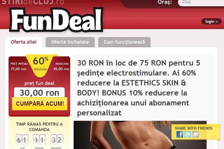Reduceri de pana la 90%, in Cluj, exclusiv on-line! FunDeal te trimite ieftin la restaurante, concerte, centre spa si multe altele! (P)