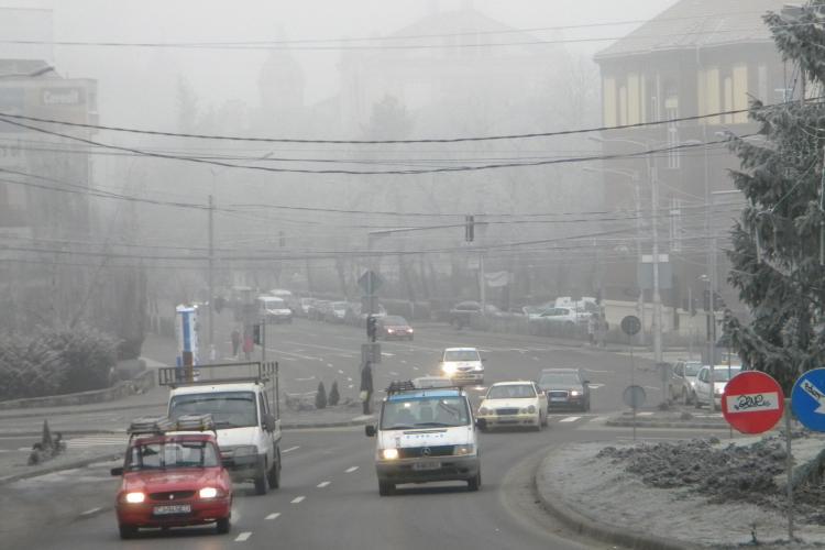 Ceata de s-o tai cu cutitul la Cluj! Autoritatile au emis o avertizare COD GALBEN in jurul orei 9.00! - Galerie FOTO