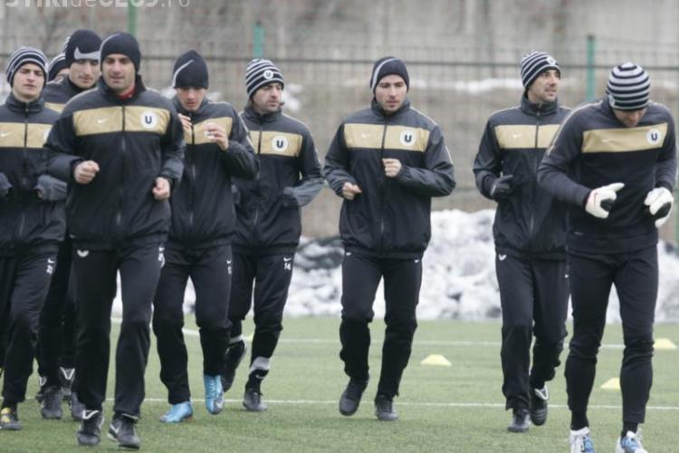 Jucatorii de la Universitatea Cluj si-au reluat antrenamentele pe baza Clujana  - VIDEO