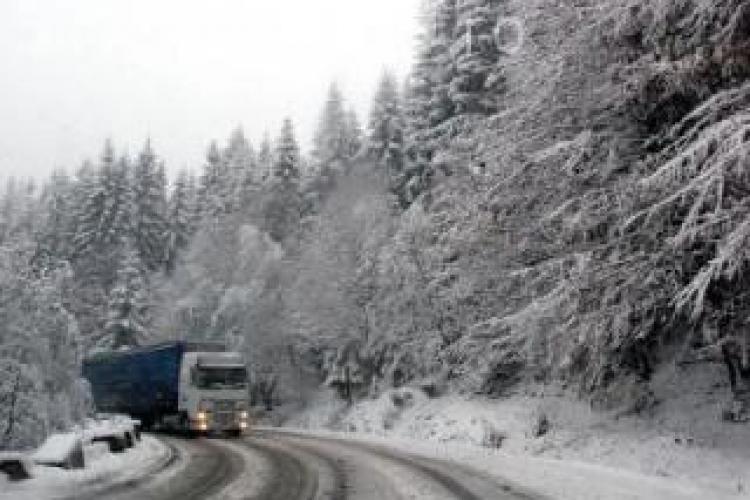 Drumul dintre Huedin si Belis a fost inchis din cauza unui accident