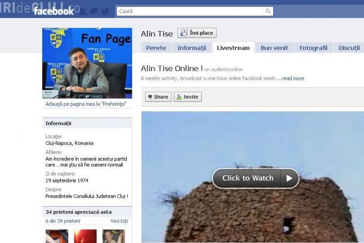 Alin Tise tine joi, 10 februarie, audiente pe Facebook! Adreseaza-i intrebari AICI