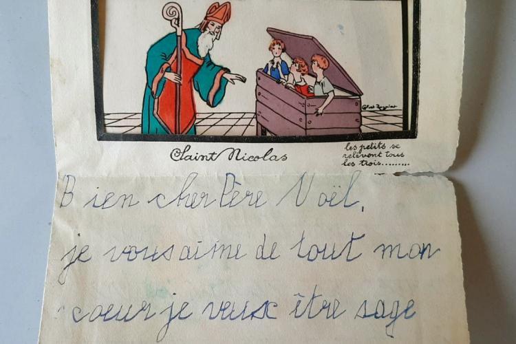 Scrisoare către Moș Crăciun din 1930, descoperită de arheologi - FOTO