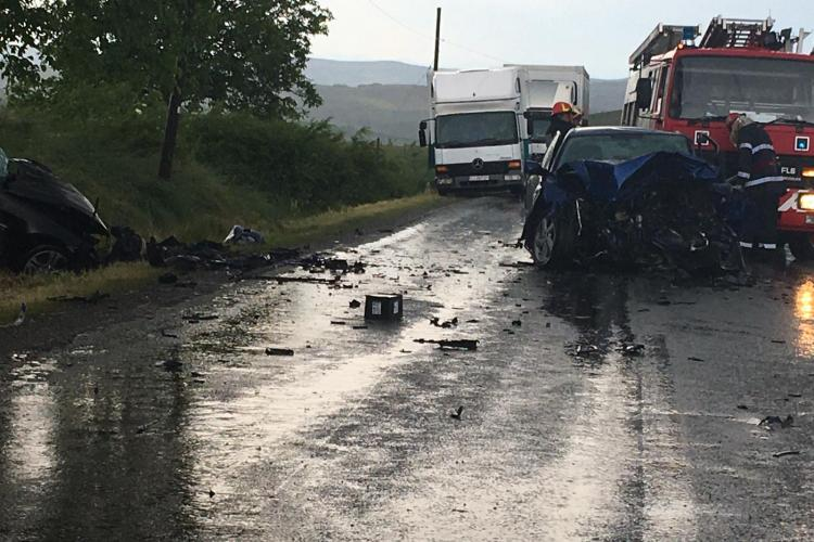 Accident rutier pe DN16, în afara localității Zorenii de Vale, comuna Mociu - FOTO