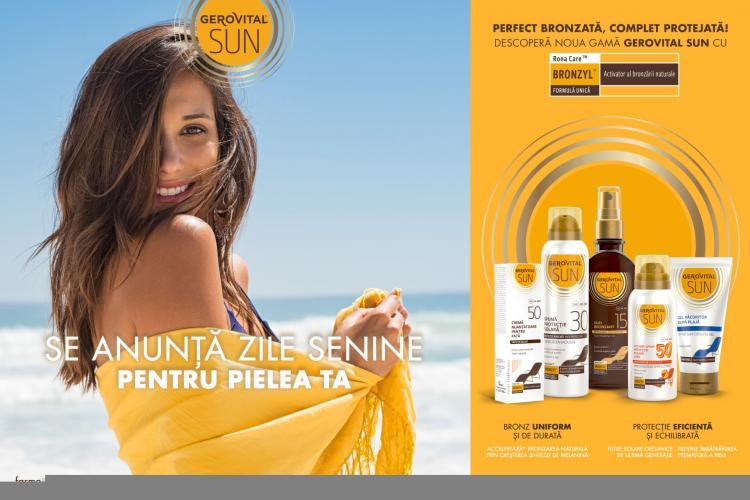 Farmec relansează gama GEROVITAL SUN cu noi formule inovatoare pentru o piele perfect protejată de razele soarelui