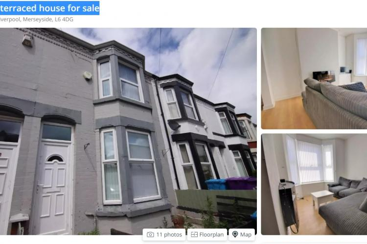 Casa la Huedin cu fosă septică, sub prețul unei case în Liverpool, Anglia - FOTO