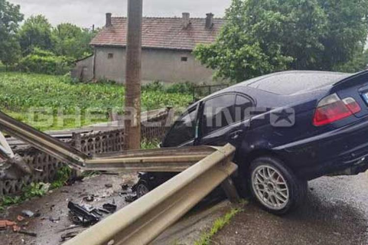 Accident surprins LIVE la Nima, pe drumul de la Gherla la Dej - VIDEO