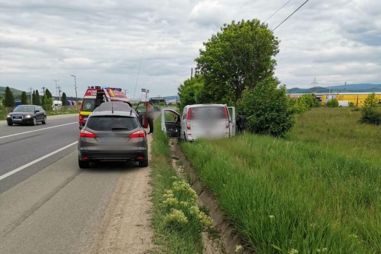 Accident între Florești din Gilău! O persoană a fost rănită - FOTO