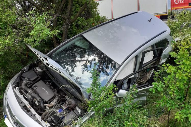 Accident la Șaula, Izvorul Crișului, pe DN1. Pompierii au plecat direct la Valea Drăganului, la alt accident - FOTO