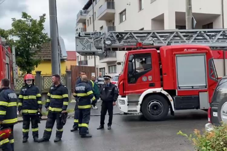 Cluj: 3 persoane au fost rănite în urma unui INCENDIU ce a izbucnit pe strada Fabricii - VIDEO