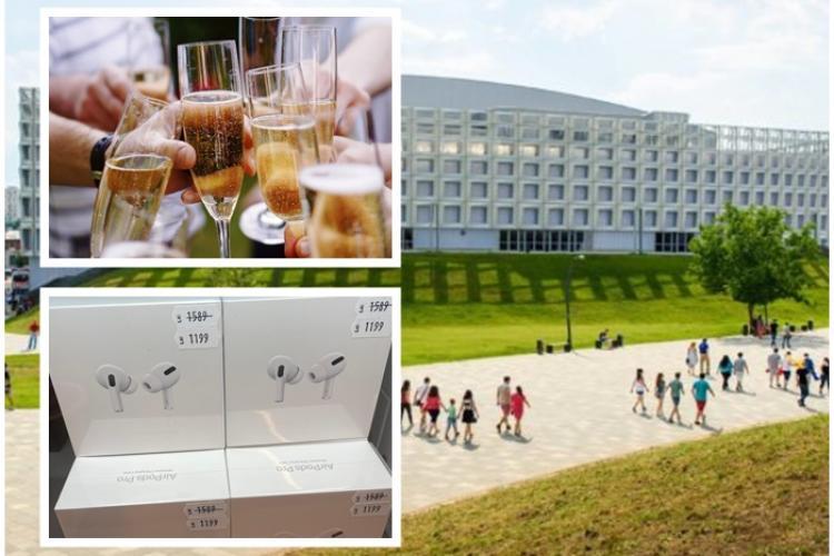 Sala Polivalentă Cluj și-a cheltuit bugetul pe băutură și gadget -uri, dar l-a dat afară pe un angajat pentru a face economii - FOTO FACTURI