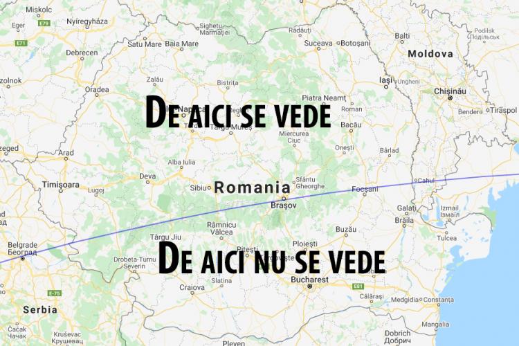 Cum poate fi privită eclipsă de Soare, vizibilă joi din România. La ce oră se poate vedea din Cluj? - FOTO