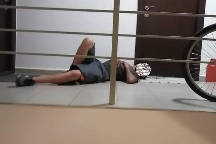 Un bărbat din Florești efectiv a dormit pe preș. Nevasta era în casă - FOTO